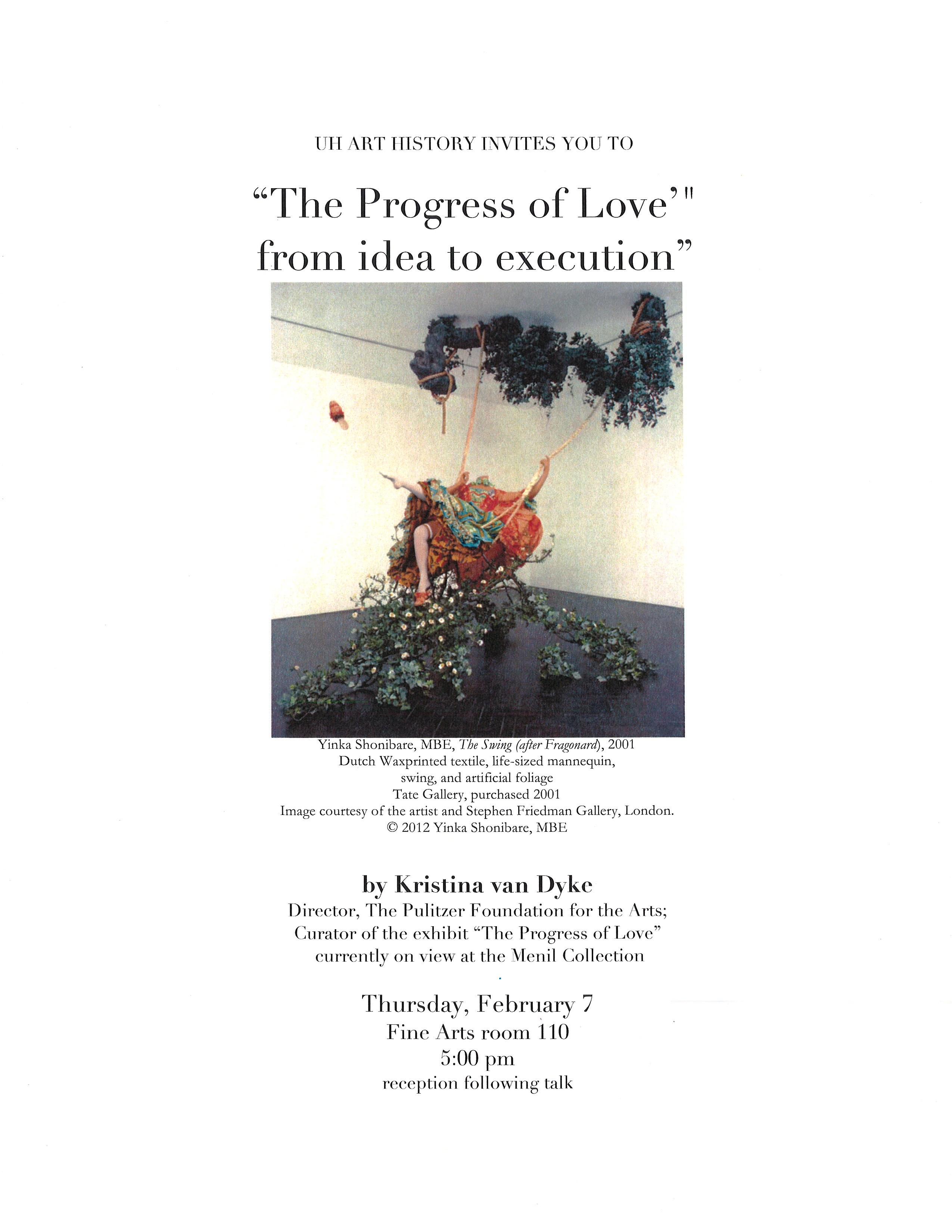 The Progress of Love